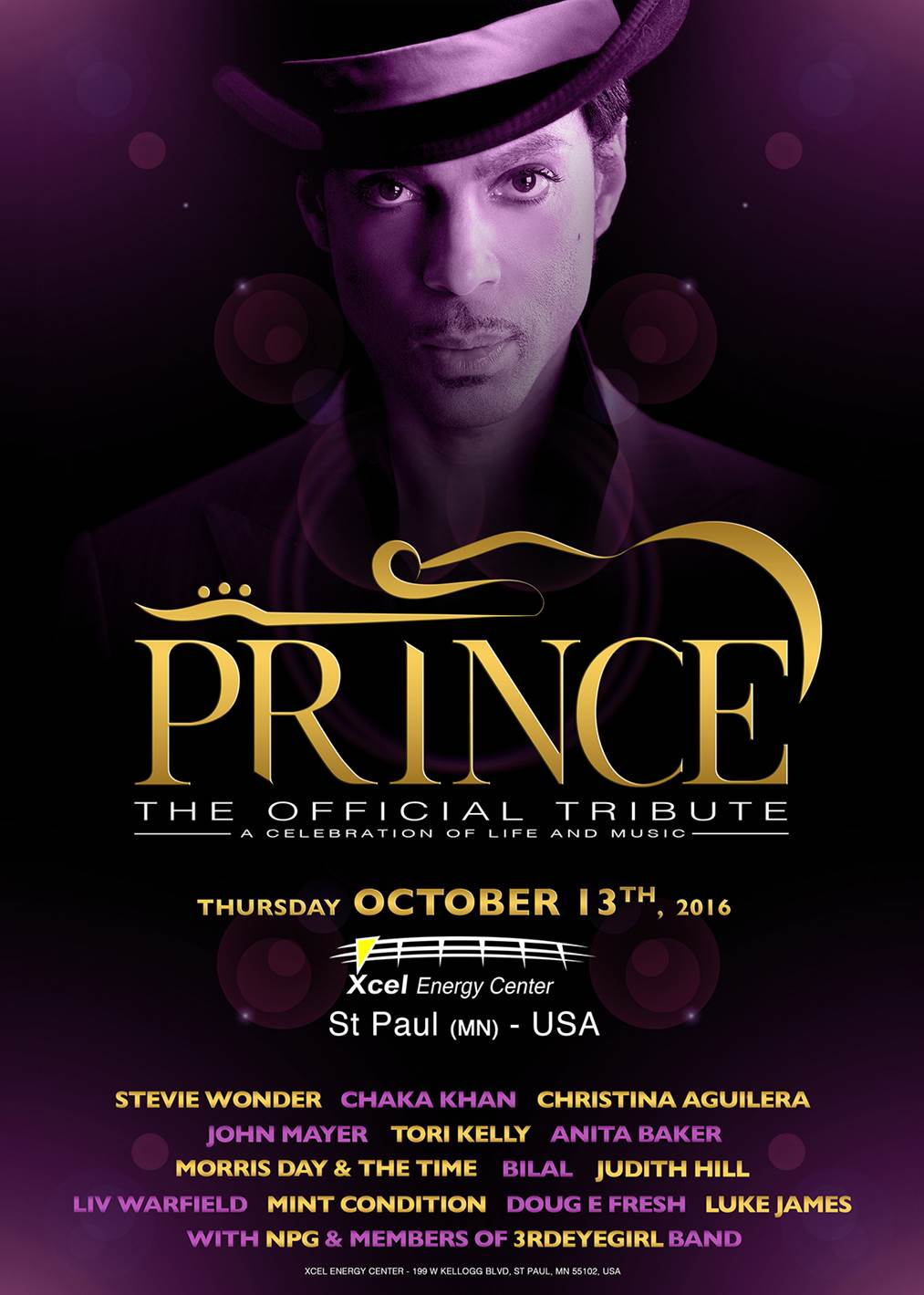 Official Prince Tribute Concert: details announced
